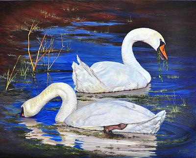Painting - Swan''s Salad by AnnaJo Vahle