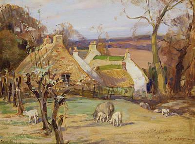 Brick Painting - Swanston Farm by Robert Hope