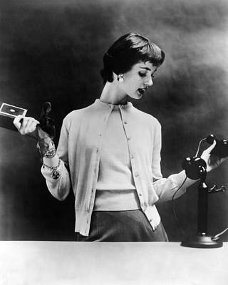 1950s Fashion Photograph - Sweater Set Of The 1950s. The 1955 by Everett