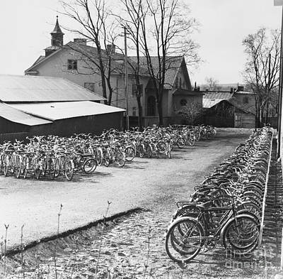 Photograph - Sweden: Bicycles, 1958 by Granger