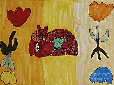 Daisy Drawing - Swedish Cat by Stephanie Ward