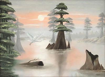 Sweeping Through Henderson Swamp Art Print by Julliette Salter