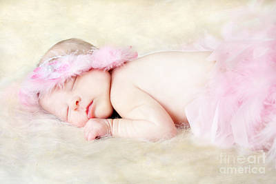 Flower Pink Fairy Child Photograph - Sweet Baby Girl by Darren Fisher