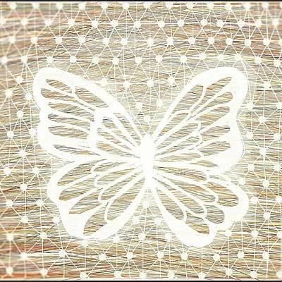 Draw Photograph - Sweet Butterfly - My Drawing by Fernanda Fontenelle
