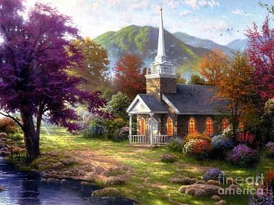 Landscape Painting - Sweet Home2 by Vishal Lakhani
