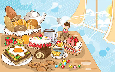 Sweet Morning Art Print by Littlebirth