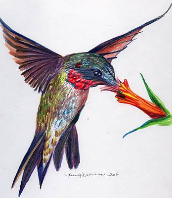 Snack Drawing - Sweet Nectar by Mindy Newman