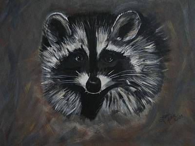 Painting - Sweet Racoon by Leslie Allen