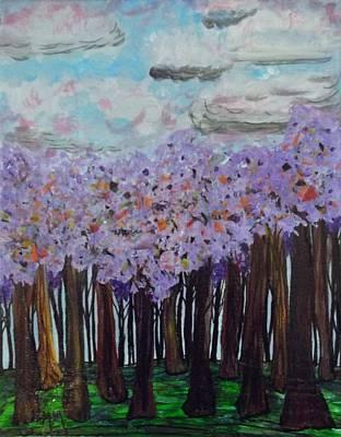 Sweet Trees Art Print by Megan Ford-Miller