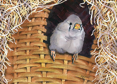 Basket Painting - Sweet Tweets by Marsha Elliott