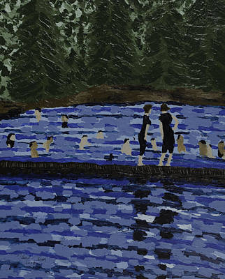 Swimming At The Res Art Print by Kurt Olson