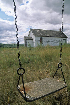 Swing At Old School House, Quappelle Art Print by Dave Reede