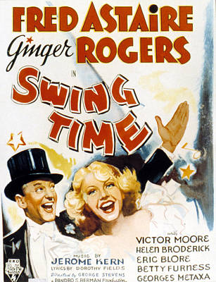 Postv Photograph - Swing Time, Fred Astaire, Ginger by Everett
