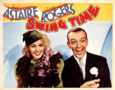 Posth Photograph - Swing Time, Ginger Rogers, Fred by Everett