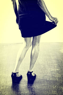 Black Shoes Photograph - Swinging Skirt by Joana Kruse