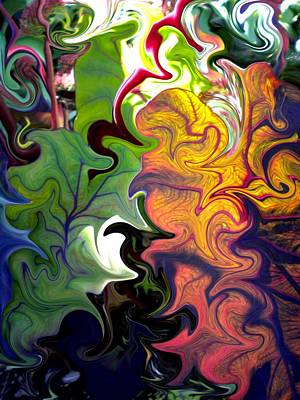 Swirled Leaves Art Print by Renate Nadi Wesley