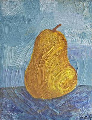 Swirling Pear Art Print by Wayne Potrafka