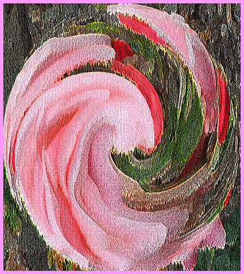 Animals Paintings - Swirling Pink Parrot Feather Fantasy by Richard James Digance