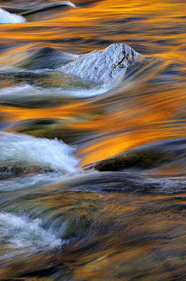 Photograph - Swirls And Patterns Of Nature - Swift River Reflections by Expressive Landscapes Fine Art Photography by Thom