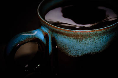 Swirly Coffee In The Dark  Art Print by The Phoblographer