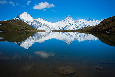 Photograph - Swiss Alps Lake Reflection by Anthony Doudt