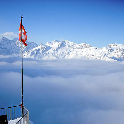 Swiss Alps Panorama Art Print by Image by Christian Senger