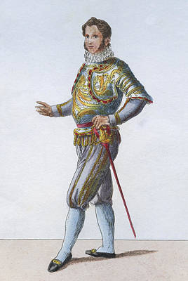 Adults Only Digital Art - Swiss Guard Captain by Hulton Archive