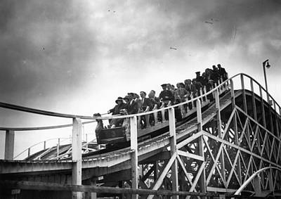 Rollercoaster Photograph - Switchback by Topical Press Agency