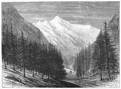 Switzerland: Glacier, 1882 Print by Granger