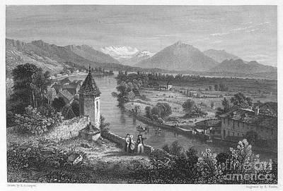 Switzerland: Thun, 1833 Art Print by Granger