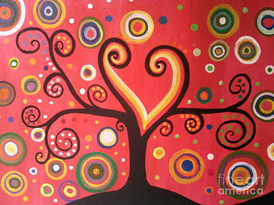 Painting - Swril Tree Paintng by Rekha Artz