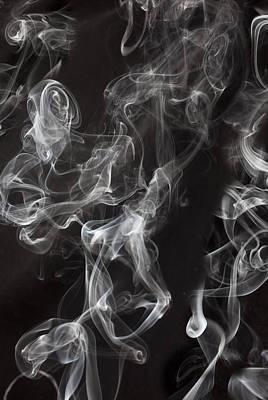 Swriling Smoke  Art Print by Garry Gay