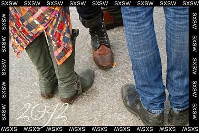 Sxsw Hipster Shoe Meet Up Art Print