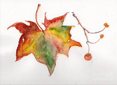Art Print featuring the painting Sycamore Fall by Doris Blessington