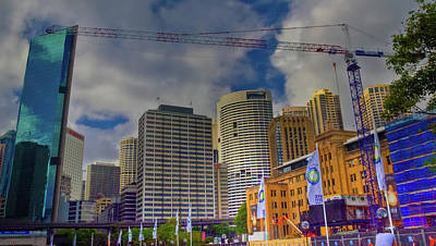 Photograph - Sydney Business District Skyline by Harry Strharsky