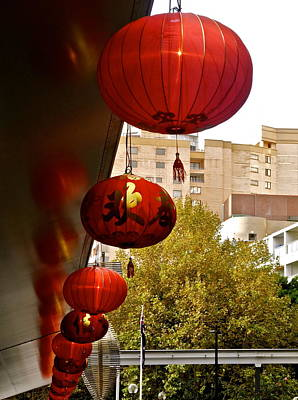 Photograph - Sydney Chinatown Lanterns by Kirsten Giving
