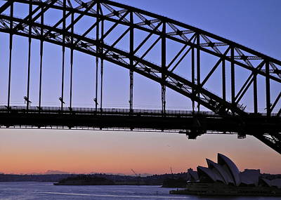 Photograph - Sydney Harbor Bridge And Opera House At Dawn by Kirsten Giving