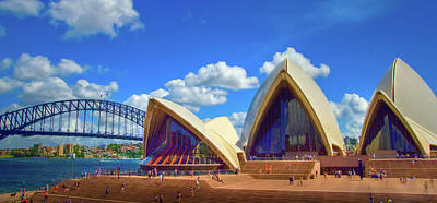 Photograph - Sydney Harbor Bridge And Opera House by Harry Strharsky