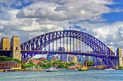 Photograph - Sydney Harbor Bridge by Harry Strharsky