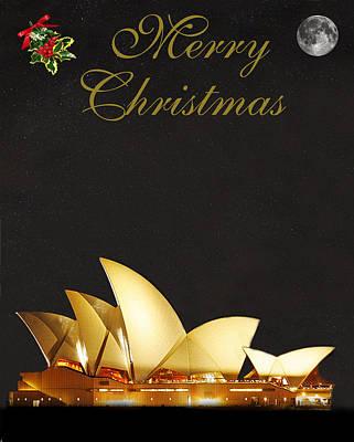 Mixed Media - Sydney Merry Christmas by Eric Kempson