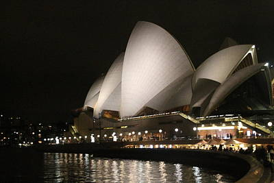 Print featuring the photograph Sydney Opera House At Night by Laurel Talabere