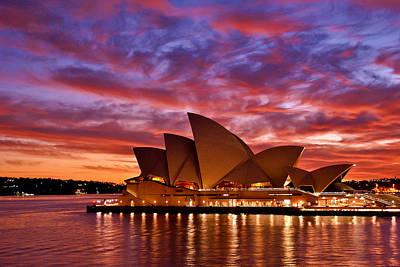 Sydney Operahouse Art Print by Preston Coe