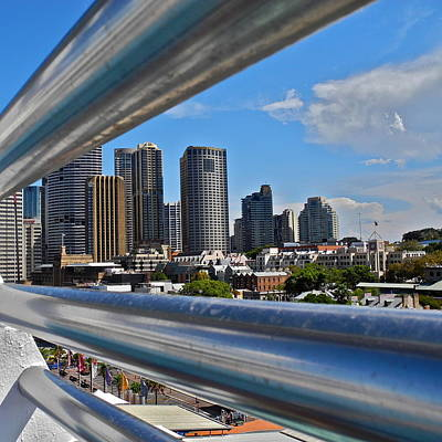 Photograph - Sydney Through The Railing by Kirsten Giving