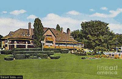 Painting - Sylvania Country Club In Toledo Oh In 1910 by Dwight Goss