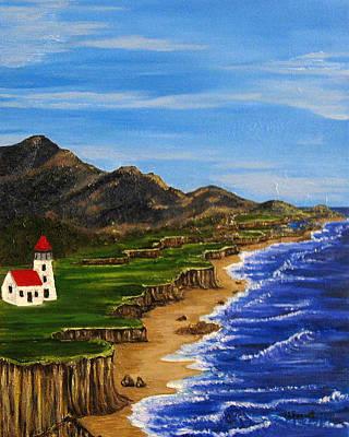 Sylvia's Seascape Art Print