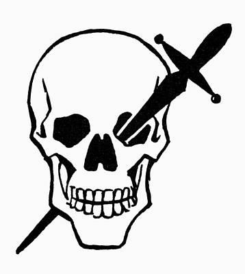 Photograph - Symbol: Skull & Dagger by Granger