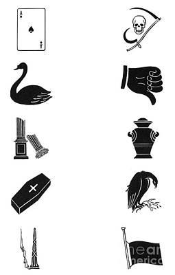 Symbols: Death Print by Granger