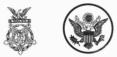 Symbols: U.s. Army Art Print