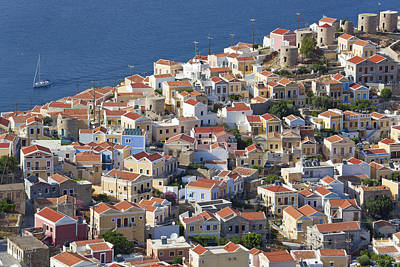 Symi Photograph - Symi Town, Symi Island, Dodecanese Islands by Peter Adams