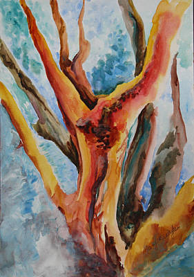 Painting - Symphony Of Branches by Mary Wykes